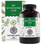 NATURE LOVE® Bio Bockshornklee - 240 vegane Kapseln - Hochdosiert mit 2600mg (650mg je Kapsel) - Laborgeprüft und frei von unerwünschten Zusätzen - zertifiziert Bio - in...