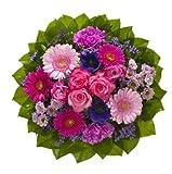 Dominik Blumen und Pflanzen, Blumenstrauß 'Magic' mit Rosen, Gerbera, Anemonen, Nelken und Ranunkeln