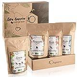 ☘️ BIO Kaffeebohnen Probierset 1kg   Premium Arabica Kaffee Ganze Bohnen Set 4x250g   Traditionelle Röstung   Säurearm   Geschenk-Idee