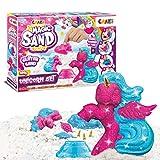CRAZE Magic Sand Unicorn Set 200 g Glitzersand mit Einhornformen Dreifarbig 29725