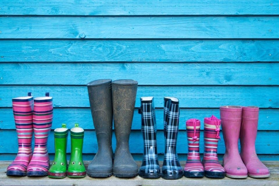 Kreativ-Tipp: Wohin mit den nassen Gummi-Stiefeln