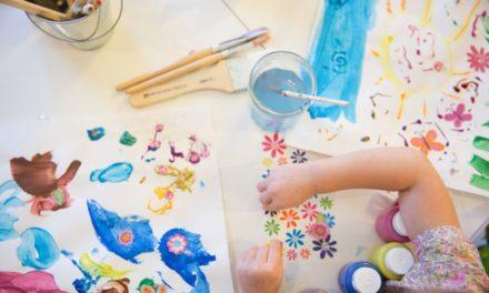 Malen und Basteln für Kinder unter drei