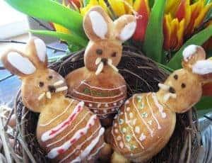 Backen für Ostern: kleine Osterhasen