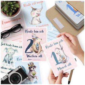 Meilensteinkarten – wunderschöne Baby Erinnerungen festhalten