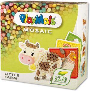 PlayMais Mosaic Little Farm Kreativ-Set zum Basteln für Kinder ab 3 Jahren