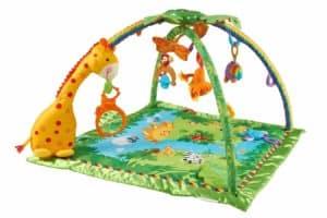 Rainforest Erlebnisdecke, Baby Krabbeldecke mit Spielzeug, Musik, Lichtern und weichem Spielbogen, ab Geburt, mit Giraffe