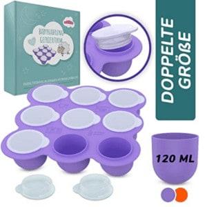 Beikost-Behälter zum Einfrieren und Portionieren