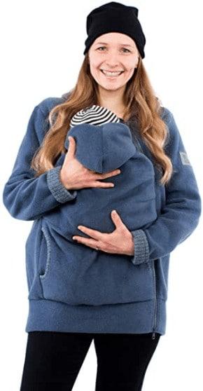 Kängurujacke, Tragejacke für Baby aus Fleece (in vielen Farben erhältlich)