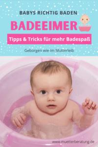 Baby richtig baden im Badeeimer: Vor-und Nachteile | Tipps