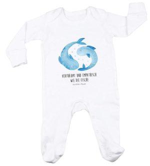 Schlafanzug, 3-6 Monate Baby Strampler Sternzeichen Wassermann Classic mit Spruch